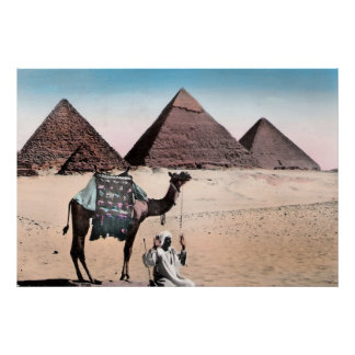 Coloured Pyramid Vintage poster