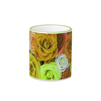 Coloured Roses Coffee Mugs
