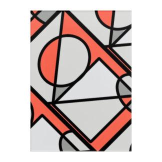 Coloured shape wall art