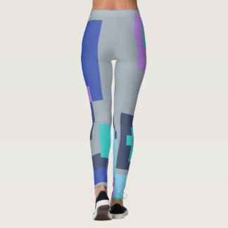 Coloured shapes leggings