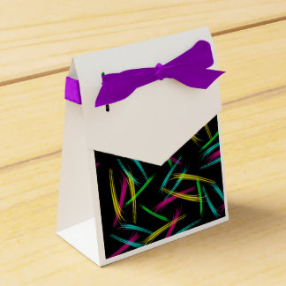 Coloured Slash Favour Box