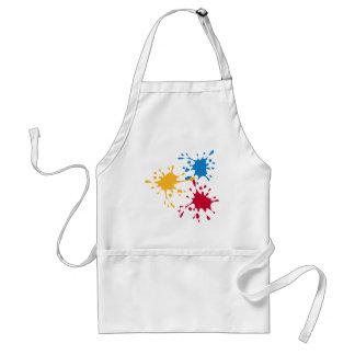 Coloured splash painter standard apron