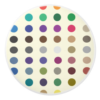Coloured Spots/Polka Dots Ceramic Knob
