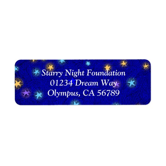 Coloured Stars Etching Custom Return Address Label