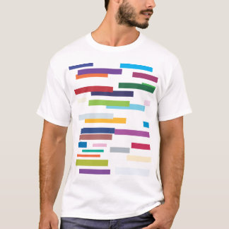 Coloured Stripes Adult Tee Shirt