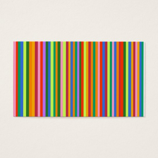 Coloured Stripes business card