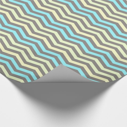 Coloured stripes, Chevron - Glossy Wrapping Paper
