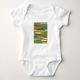 Coloured Stripes Creeper/Babygro Baby Bodysuit