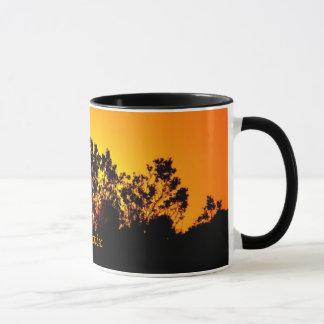 Coloured Sunset by Bobby Mikul ceramic mug