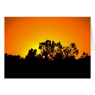 Coloured Sunset by Bobby Mikul note card
