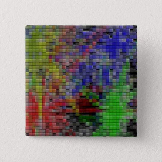 Coloured Tiles 15 Cm Square Badge