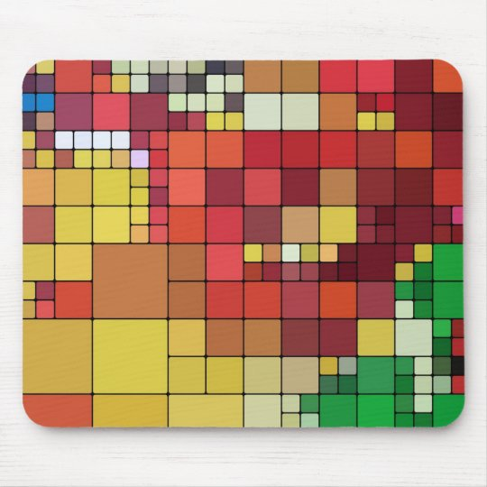 Coloured Tiles Mouse Pad