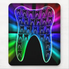 Coloured Tooth Design Dentist Mousepad