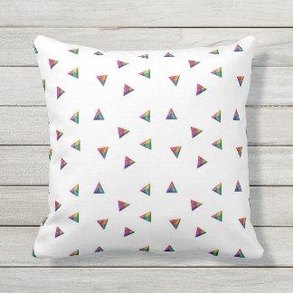 Coloured Triangles Cushion