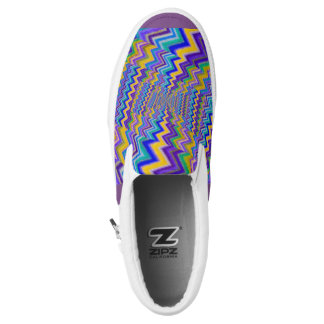 coloured vortex on Slip Ons shoes Printed Shoes