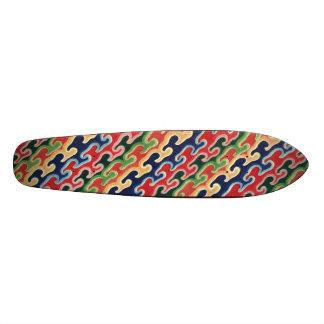Coloured Waves Skateboard