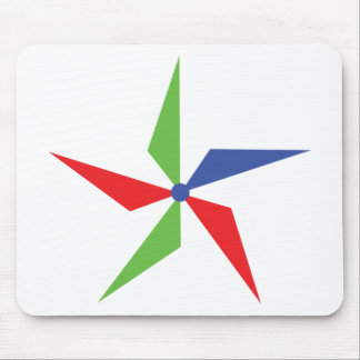 coloured wind wheel icon mouse pad