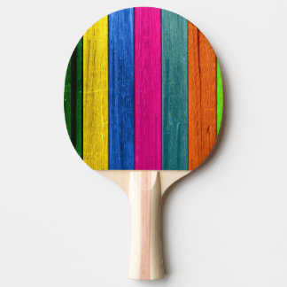 coloured wood ping pong paddle