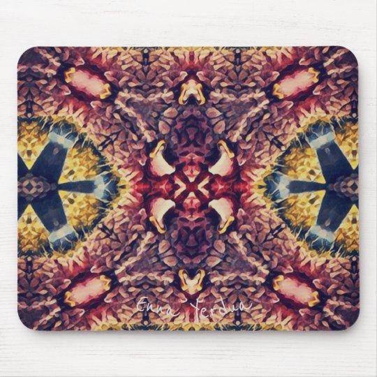 Coloured woollen article mouse mat