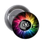 Colourful 8 ball pins