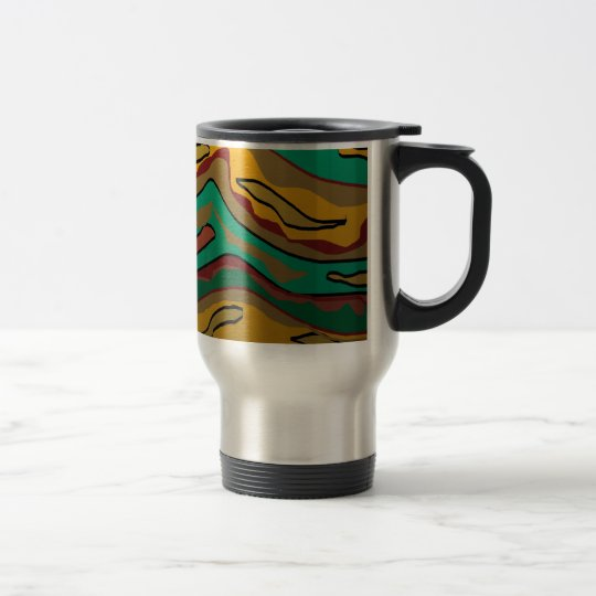 Colourful Aboriginal Inspired Design.Travel Mug