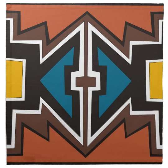 Colourful abstract African art Napkin