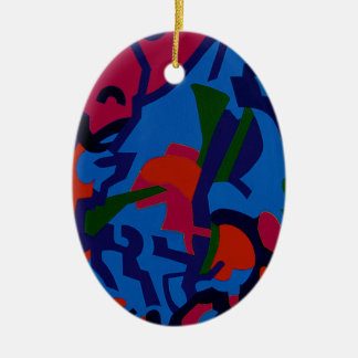 Colourful Abstract Art christmas tree decorations Christmas Tree Ornament