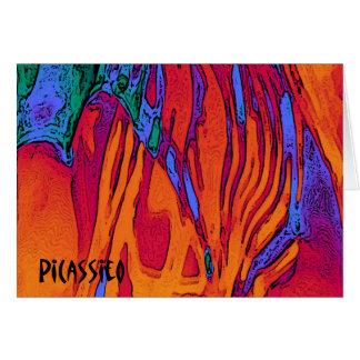 Colourful Abstract Art Note Card Fire and Water