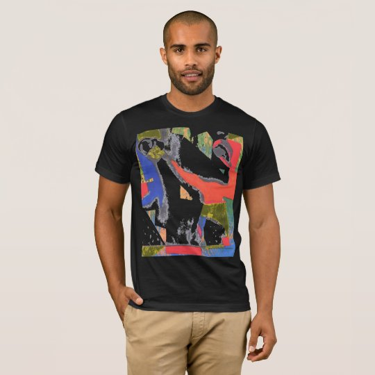 Colourful abstract art profile t-shirt