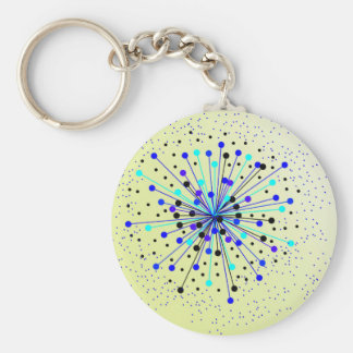 Colourful Abstract Background Key Ring