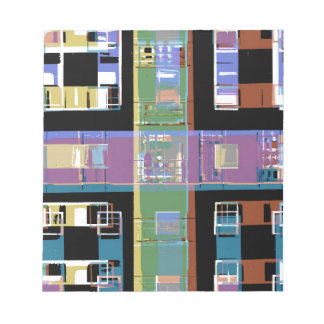 Colourful abstract city apartments notepad