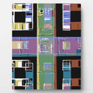 Colourful abstract city apartments plaque