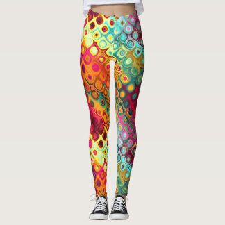 Colourful abstract daydreams leggings
