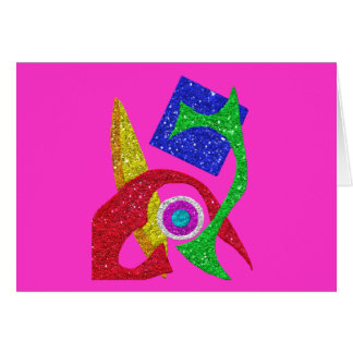 Colourful Abstract Design Greeting Card