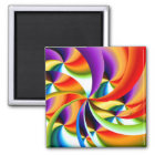 Colourful Abstract Design Magnet