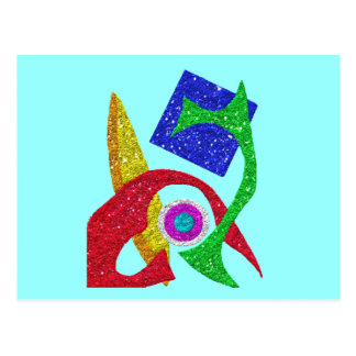 Colourful Abstract Design Post Card
