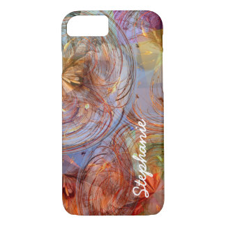 Colourful Abstract Floral Geometric Swirls iPhone 8/7 Case