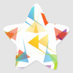 Colourful abstract geometric background star sticker