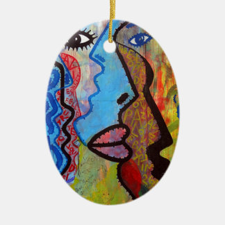 Colourful Abstract Graffiti Christmas Ornament