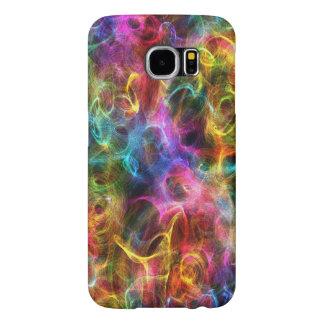 Colourful Abstract Grunge Random Swirls Samsung Galaxy S6 Cases