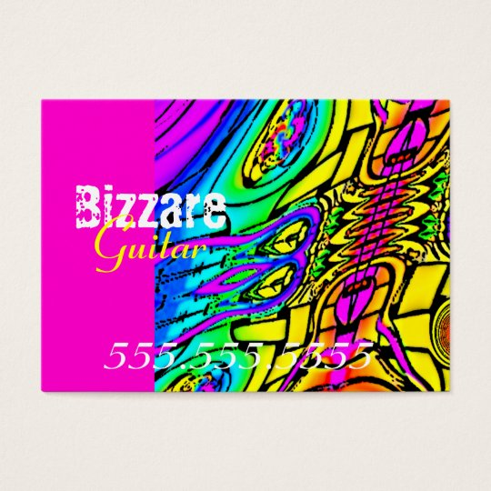 Colourful Abstract Guitar Business Card
