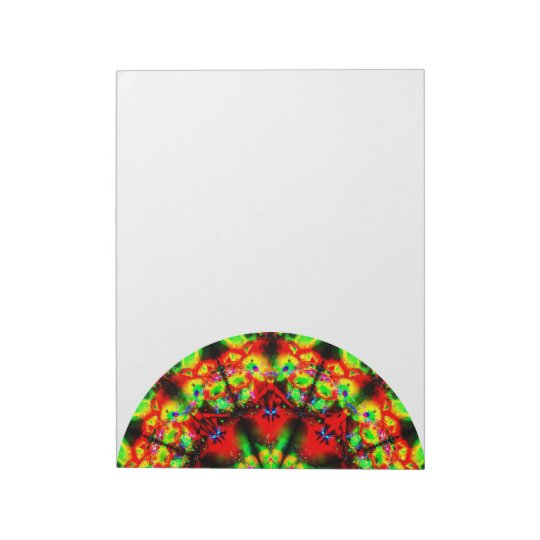 Colourful Abstract Mandala Side Notepad