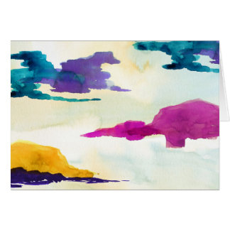 Colourful Abstract Painting Greetings Card