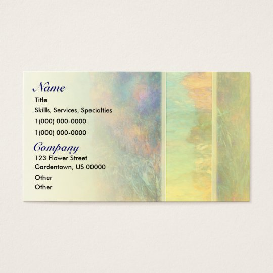 Colourful Abstract Reeds Business Card
