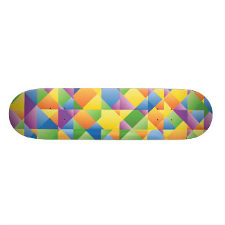 Colourful Abstract Retro Funky Skateboard