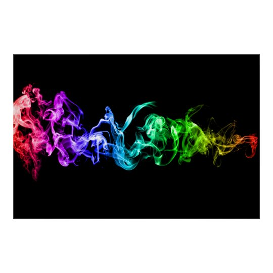 Colourful Abstract Smoke - A Rainbow in the
