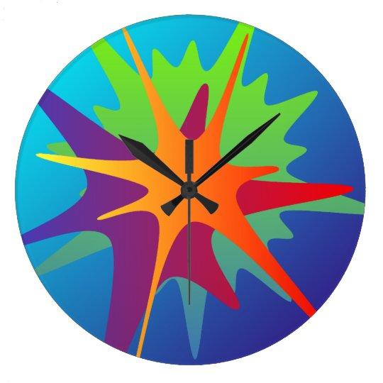 Colourful Abstract Splash Wall Clock