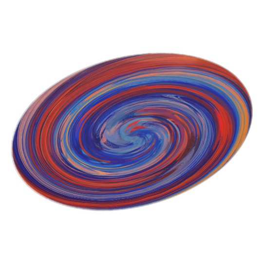 Colourful Abstract Swirl Pattern #7 Plate