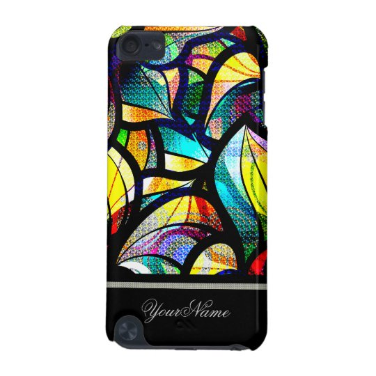 Colourful Abstract Swirls Custom Name iPod Touch 5G