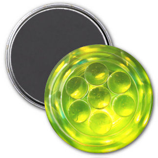 colourful abstract symmetrical geometric pattern 7.5 cm round magnet